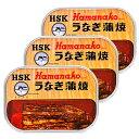 《メール便で送料無料》浜名湖食品 うなぎ蒲焼缶詰 100g × 3缶