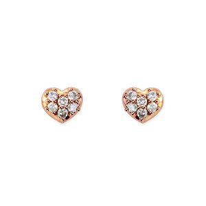 ポイント ピンクゴールドダイヤモンドピアス ダイヤモンド
