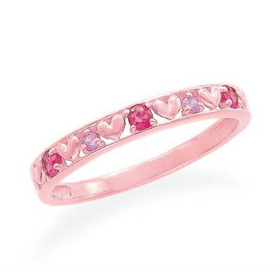 指輪 ピンクゴールドルビーリング