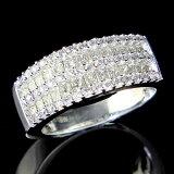 指輪 K18ホワイトゴールドダイヤモンドリング【1カラット】 10P04Jan15
