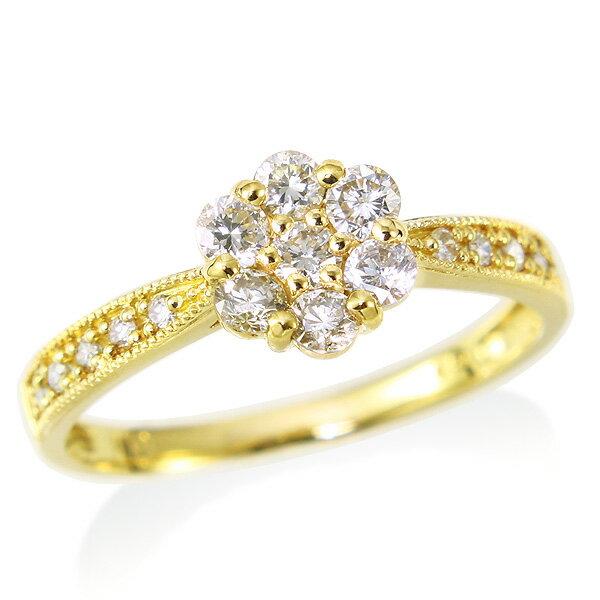指輪 K18ダイヤモンドリング【0.5カラット】 P15Aug15