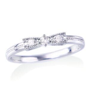 ポイント ホワイトゴールドダイヤモンドリング ダイヤモンド