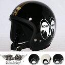 スーパーマグナム MOON x TT&CO. スモールジェットヘルメット SG/DOT規格