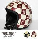 スーパーマグナム ディストーション ホールチェッカーズ スモールジェットヘルメット SG/DOT規格