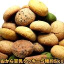 【送料無料】 クッキー 豆乳おからクッキー5種類 1kg[5セット]洋菓子 くっきー お菓子 菓子 チョコ 【02P01Oct16】