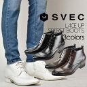 ショートブーツ メンズ SVEC シュベック IPB200-1-H ブラック 黒 ダークブラウン 茶色