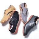 カジュアルシューズ メンズ スエード おしゃれ ダービーシューズ オックスフォードシューズ 軽量 軽い レースアップシューズ カジュアルシューズ 短靴 短ぐつ スニーカー ポストマンシューズ 革靴 皮靴 プレーントゥ 靴 レンガソール ブリックソール 男性の 2021 春 夏 春夏