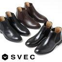 ブーツ メンズ ショートブーツ SVEC シュベック サイド...