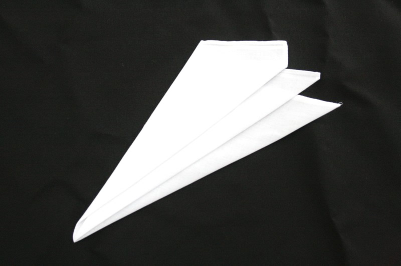 綿ポケットチーフ(スリーピークス織済み)