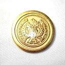 【メール便送料無料】メタルボタンI-02ゴールド21mm