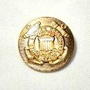 [処分品]メタルボタンI-07ゴールド15mm 紳士服スーツジャケットの袖口・袖ボタンに