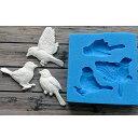 小鳥の抜き型/デコレーション/シリコンモールド/製菓 製氷器 シュガークラフト チョコレート レジン型 アクセサリーパーツ作り等に。
