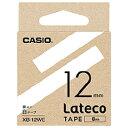 【教育施設様限定商品】-ed 157782 Lateco専用テープ18黄に黒文字 メーカー名 カシオ計算機-【教育・福祉】