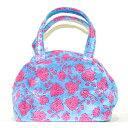 ショッピングターコイズ バッグ 横浜ナナ NANA ボストンバッグ中 ローズ2 ターコイズブルーピンク