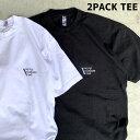 PACIFIC STANDARD TIME /LOGO SS 2PACK TEE - 2枚組 半袖Tシャツ カラー組み換え可 / 半袖Tシャツ / MADE IN USA / カリフォルニア LA サーフブランド スケートブランド WHITE BLACK 白黒 ホワイトブラック