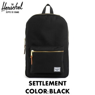 Herschel Supply Herschel supply backpack / SETTLEMENT settlement / BLACK Black Black / 21 L / Herschel backpack / classic series / ladies ' men's popular / bag / Herschel supply / men women unisex / gold zip [05P11