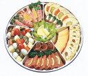 [業務用]サークルトレイ FP-5 シルバー透明蓋付きセット20枚入り使い捨てのオードブル皿大皿のオードブル容器で仕切りがあり惣菜や食材が引き立ちます。用途いろ...
