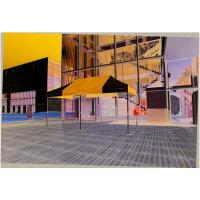 かんたんてんと3(オールアルミフレーム) 紺(オプション色) 2.4m×4.8m KA/5WA テント ワンタッチ イベントの画像