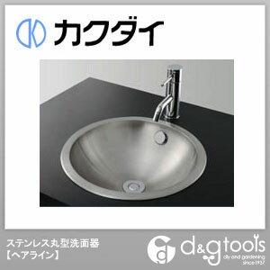 カクダイ ステンレス丸型洗面器(ヘアライン) 493-040