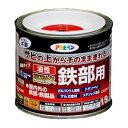 アサヒペン 油性高耐久鉄部用塗料 黒 1/5L (IK-24)