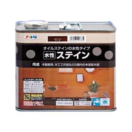 アサヒペン 水性ステイン ホワイト 2L ニス ステイン 塗料 オイルステイン 【02P27May16】【あす楽】
