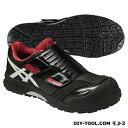 アシックス 作業用靴 ウィンジョブ CP101 黒×赤 (FCP101.9001 29.0)