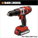 ブラック&デッカー 18Vリチウム 振動ドリルドライバー (EXH18-JP)
