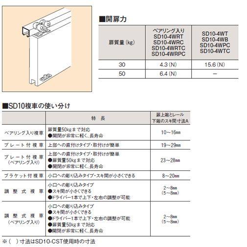 ダイケン アルミ製ドアハンガーSD10Aレール...の紹介画像3
