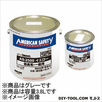 デブコン 滑り止めコート剤 安全地帯AS-2500(低臭気・重車輌タイプ) グレー 3.8L (A25401) Devcon 補修剤・補修用品 壁面・床面用補修材