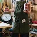 DIY FACTORY IDY 胸ポケットエプロン カーキ フリー (IDY-03K) 【02P03Dec16】