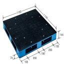 岐阜プラスチック工業 リスパレット HBタイプ ブラック/ブルー (HB-R4・1111SC)