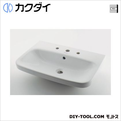 カクダイ 壁掛洗面器//3ホール 5.5L #DU-2319650030