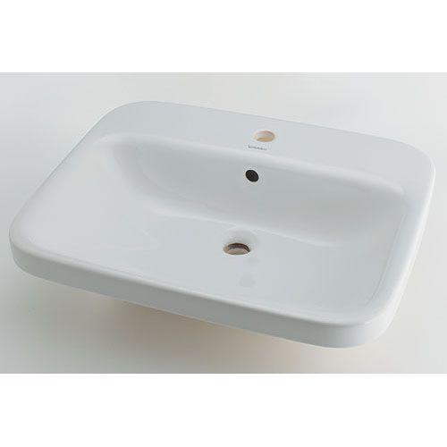 DURAVIT 角型洗面器 白(ホワイト) 呼46・横615・縦495 (#DU-0374620000) 1