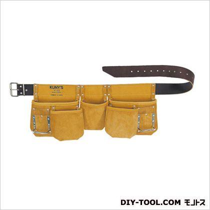 クニーズ 革製腰袋ダブルバッグ 腰袋」両側ベルト(ベルト付き) (AP-630)