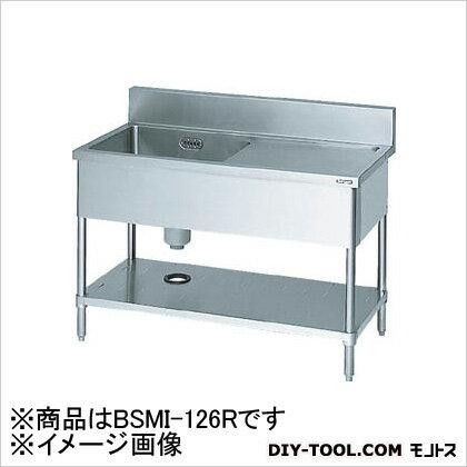 マルゼン 一槽水切付シンク1200×600×800右側水切り(ホース付)   BSMI126R セール(セール)
