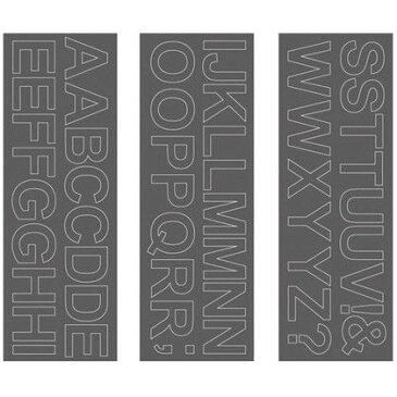 サンカ ウォールステッカー アルファベット アリアル 大文字 WS-05SQGY squ+ 約縦10.3×横29.6(cm) (250201)