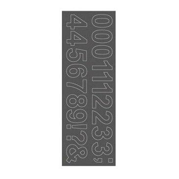 サンカ ウォールステッカー ナンバー アリアル WS-07SQGY squ+ 約縦10.3×横29.6(cm) (250203)