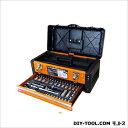 TRAD 引き出し付ツールボックス ソケットセット 2段/工具箱 (TSS-56) 三共コーポレーション 工具セット 工具セット