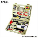 TRAD 電池式ドライバー付 家庭用工具セット (TS-47D) 三共コーポレーション 工具セット 工具セット
