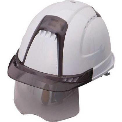 トーヨーセフティー シールドレンズ付きヘルメット (スチロールライナー入り) ヴェンティー・プラス 帽体色:白 391F-S-C