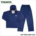 TRUSCO プロセーフティレインスーツネイビー3L 3L SRS-55
