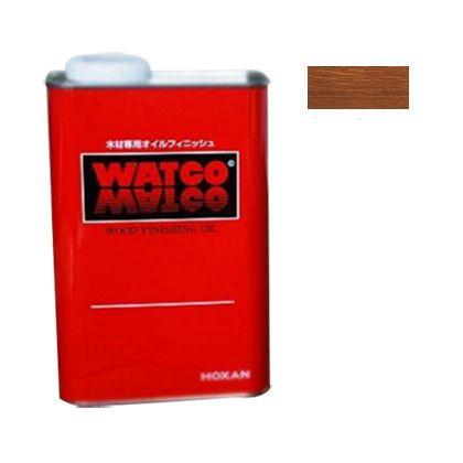ワトコ社 ワトコオイル浸透性木材用塗料 ダークウォルナット 1L W-13