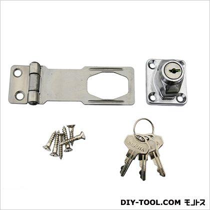 鍵つき掛金錠ステンレス 75mm JY-459