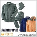 マック レインウェア(雨合羽) レインハードプラス(Rain Hard Plus) ネイビー 2L(LL) (AS-5500)