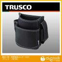 トラスコ(TRUSCO) 腰袋2段携帯電話ホルダー付きブラック 180 x 255 x 106 mm TWP2BK