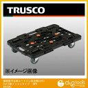 トラスコ 樹脂製平台車ルートバン自在側S付615x415黒メッシュタイプ MPK600SBK