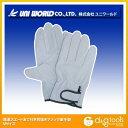ユニワールド 豚革スエードあて付き背抜きマジック革手袋 M 320-M