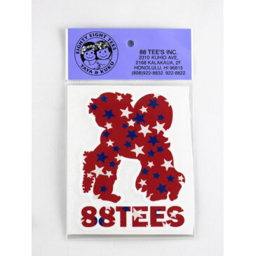 88TEES(エイティエイティーズ)・ステッカー・シール・ヤヤ×クク×スターシルエット・Mサイズ【嵐☆Mステ相葉くん・ジャニーズJr.岸 優太くん着用Tシャツ同柄】