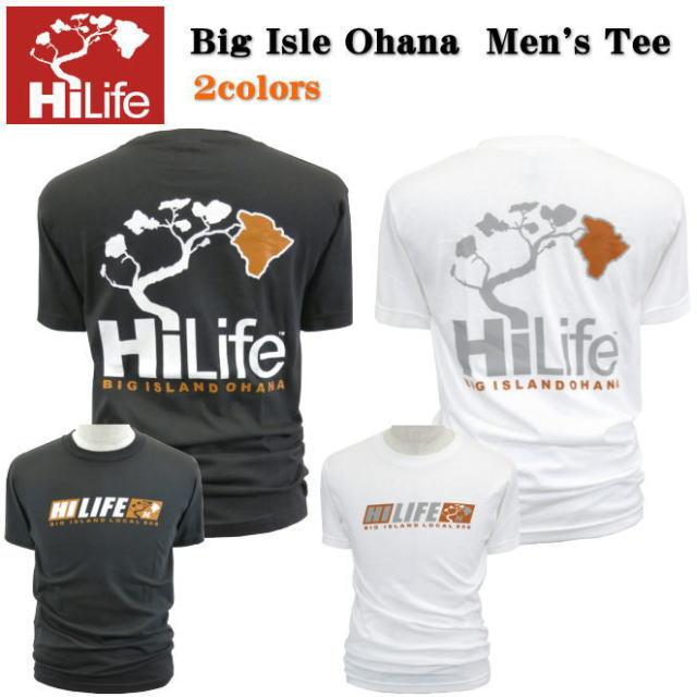 HiLife【ハイライフ】【Hawaii発】【Hawaii直輸入】Big Isle Ohana Men's Tee・Tシャツ・ハワイ島2colors・メンズ・ユニセックス・サイズ:S〜L