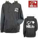 HiLife【ハイライフ】【Hawaii発】【Hawaii直輸入】【送料無料】パーカーHiLife Midweight P/O Hoodieサイズ:L・メンズ・Grey×White